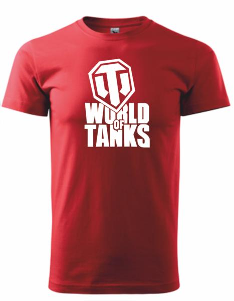 dětské tričko World of tanks červená 158