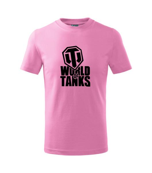 dětské tričko World of tanks růžová 158