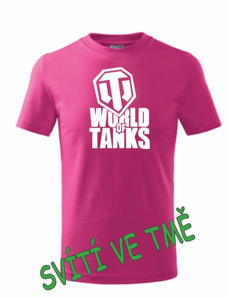 dětské tričko World of tanks malinová 158