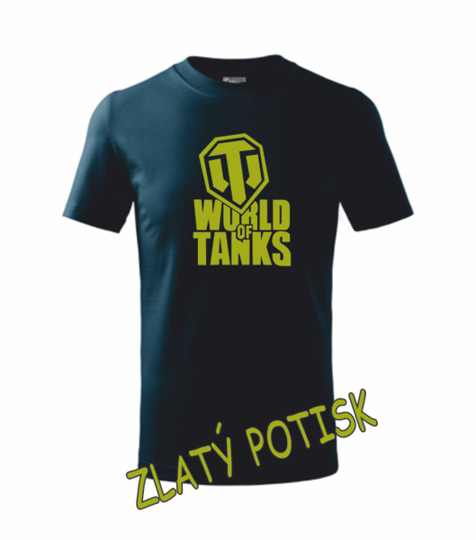 Tričko World of tanks XS námořní modrá