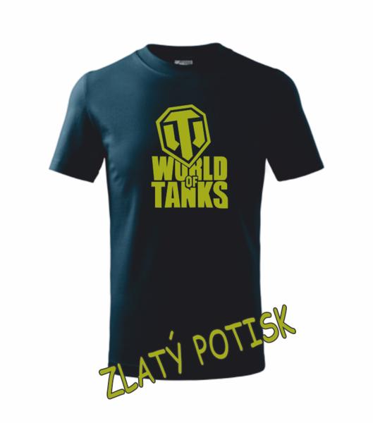 Tričko World of tanks L námořní modrá