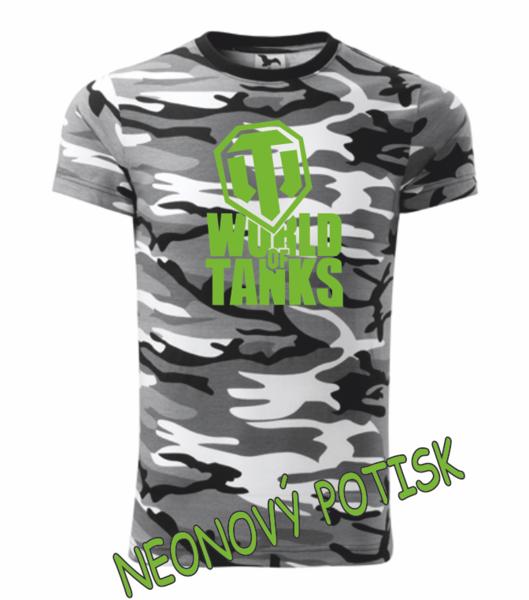Tričko World of tanks S camoflage gray