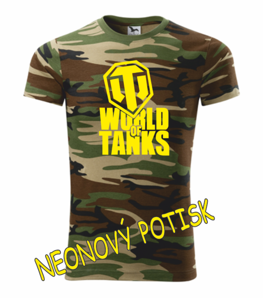 Tričko World of tanks XXXL camouflage brown