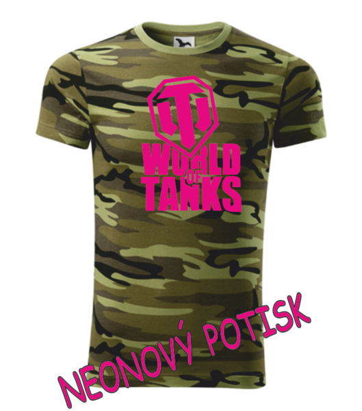Tričko World of tanks XXXL camouflage green