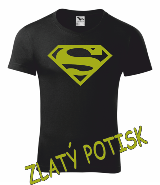 Tričko SUPERMAN M ZLATÁ