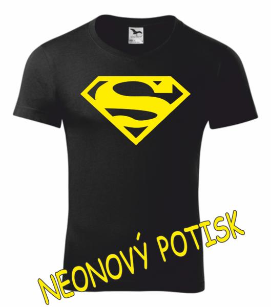 Tričko SUPERMAN L ŽLUTÁ neon