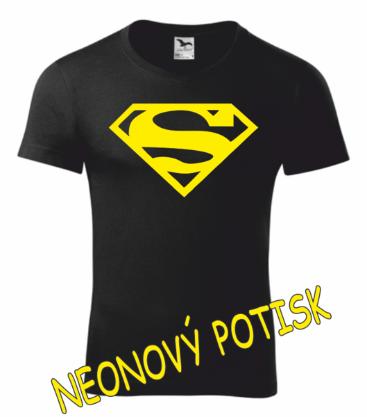 Tričko SUPERMAN XL ŽLUTÁ neon