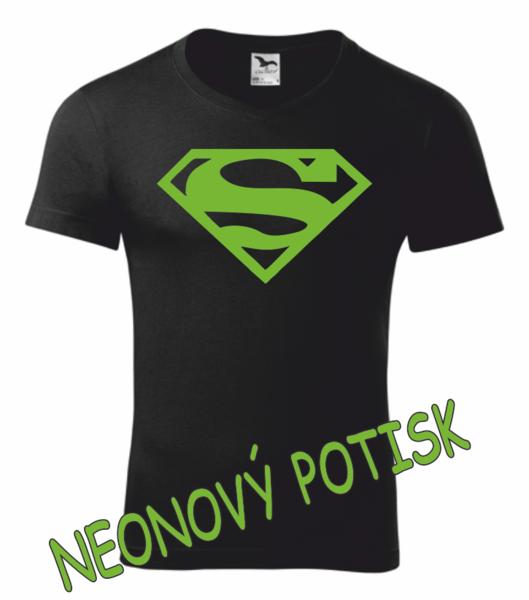 Tričko SUPERMAN XL ZELENÁ neon