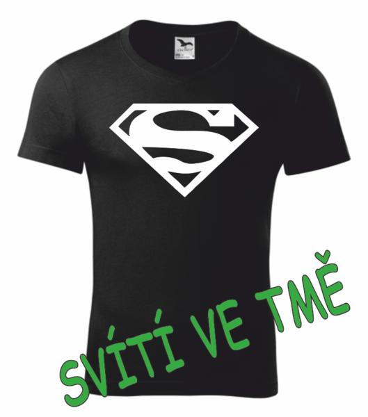 Tričko SUPERMAN M SVÍTIVÁ