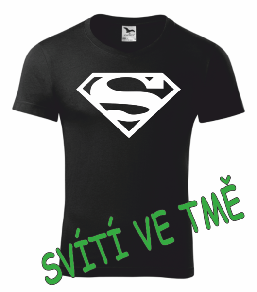 Tričko SUPERMAN XXL SVÍTIVÁ