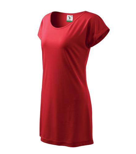 Šaty dámské LOVE červená XS