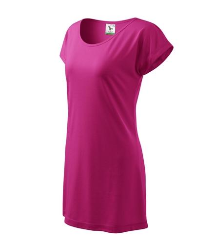 Šaty dámské LOVE purpurová L