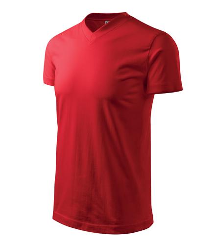 Tričko unisex HEAVY V-NECK XXL červená