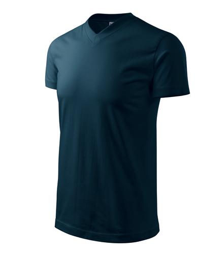 Tričko unisex HEAVY V-NECK L námořní modrá