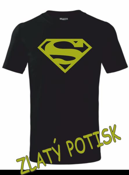 Dětské tričko SUPERMAN 134 ZLATÁ