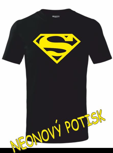 Dětské tričko SUPERMAN 122 ŽLUTÁ neon