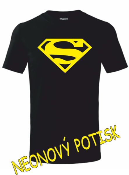 Dětské tričko SUPERMAN 134 ŽLUTÁ neon