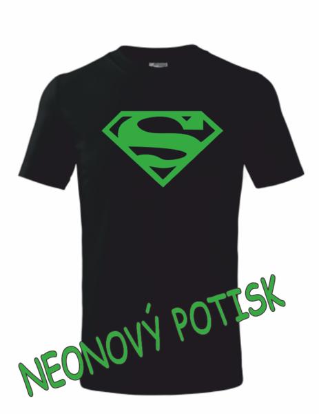 Dětské tričko SUPERMAN 122 ZELENÁ neon