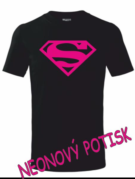 Dětské tričko SUPERMAN 134 PURPUR neon
