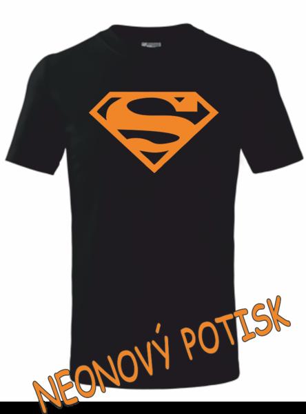 Dětské tričko SUPERMAN 122 ORANŹOVÁ neon