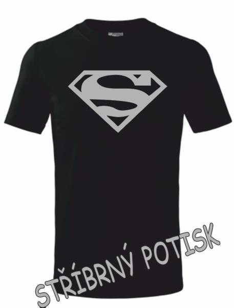 Dětské tričko SUPERMAN 158 STŘÍBRNÁ