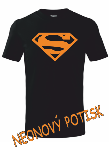 Dětské tričko SUPERMAN 158 ORANŹOVÁ neon