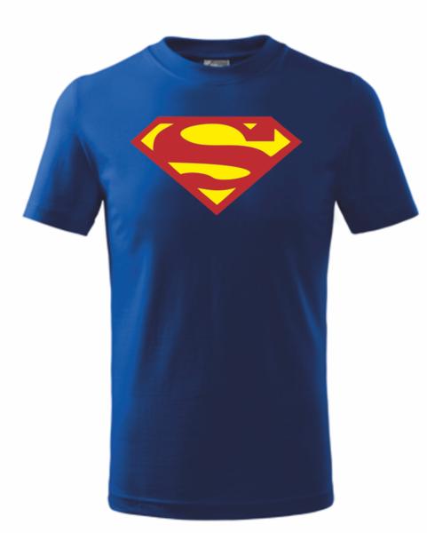 Dětské tričko SUPERMAN 134 MODRO-ŽLUTÁ