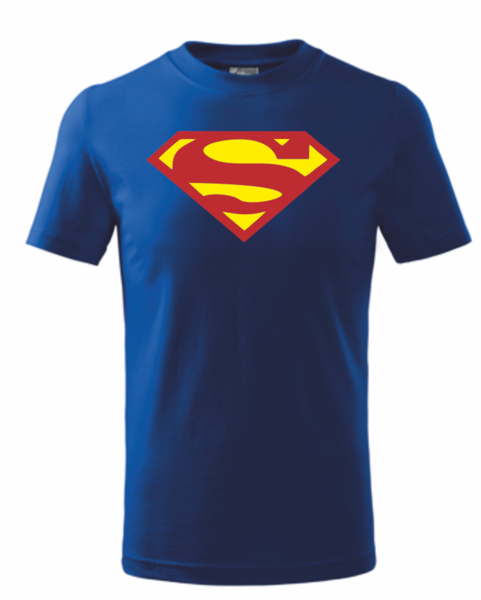 Dětské tričko SUPERMAN 146 MODRO-ŽLUTÁ