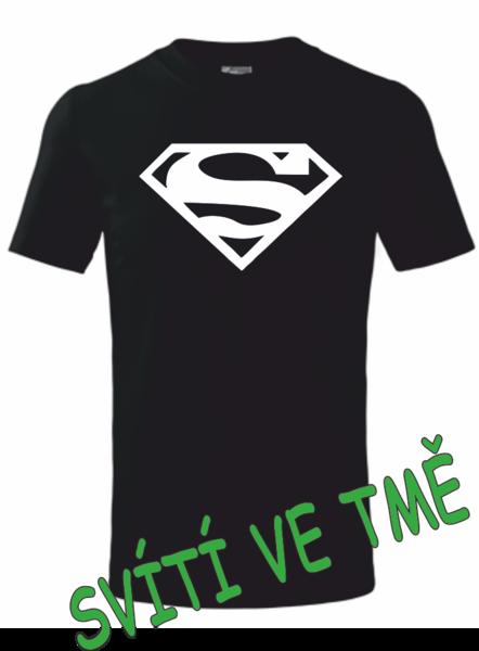 Dětské tričko SUPERMAN 134 SVÍTIVÁ