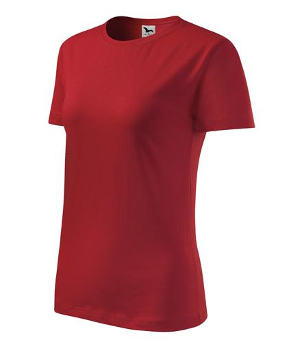 Tričko dámské barevné CLASSIC NEW XS červená