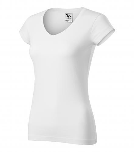 FIT V-NECK tričko dámské XXL bílá
