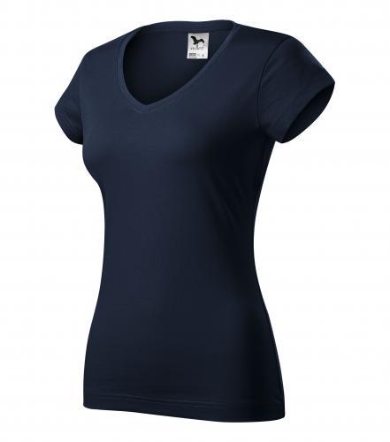 FIT V-NECK tričko dámské L námořní modrá