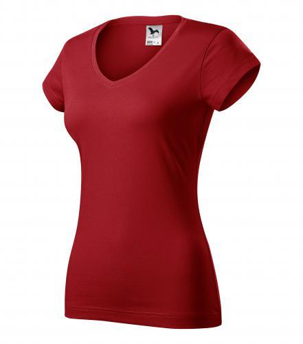 FIT V-NECK tričko dámské XS červená