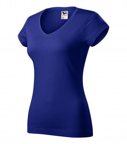 FIT V-NECK tričko dámské L královská modrá
