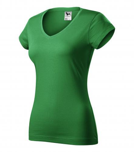 FIT V-NECK tričko dámské M středně zelená