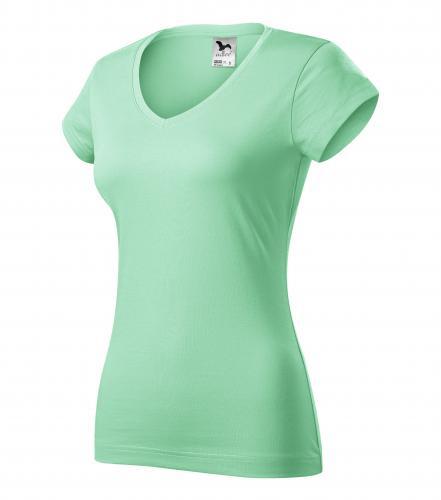 FIT V-NECK tričko dámské M mátová