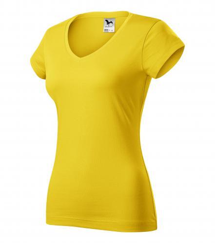FIT V-NECK tričko dámské M žlutá