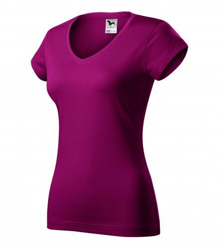FIT V-NECK tričko dámské S fuchsia red