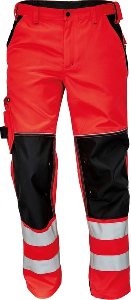 Pracovní reflexní kalhoty Knoxfield 58 červená