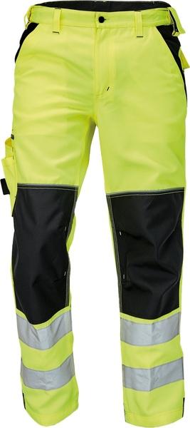 Pracovní reflexní kalhoty Knoxfield 52 žlutá