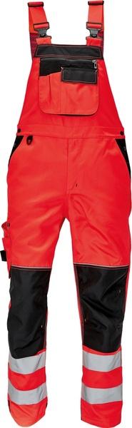 Kalhoty s laclem KNOXFIELD HI-VIS 56 červená