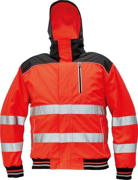 Zimní bunda KNOXFIELD HI-VIS PILOT S červená
