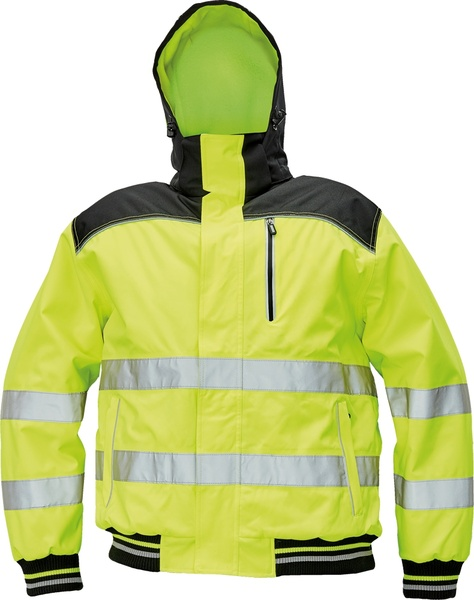 Zimní bunda KNOXFIELD HI-VIS PILOT M žlutá