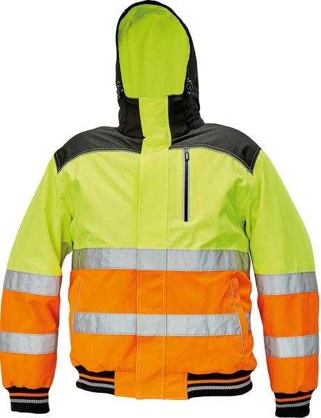 Zimní bunda KNOXFIELD HI-VIS PILOT S neon yellow