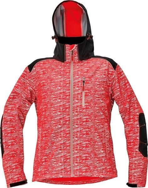 Reflexní softshellová bunda KNOXFIELD XXXL červená