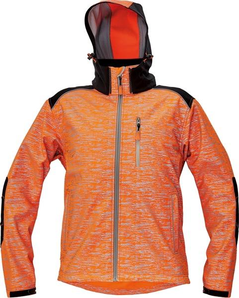Reflexní softshellová bunda KNOXFIELD XXXL oranžová
