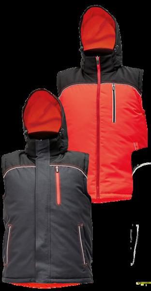 Zimní oboustranná vesta KNOXFIELD S červená