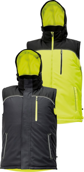 Zimní oboustranná vesta KNOXFIELD S žlutá