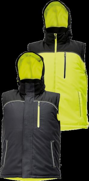 Zimní oboustranná vesta KNOXFIELD XL žlutá