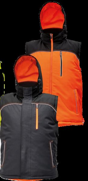 Zimní oboustranná vesta KNOXFIELD XXL oranžová